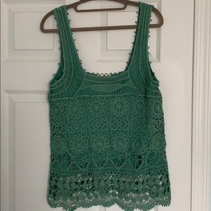 Green laced tank